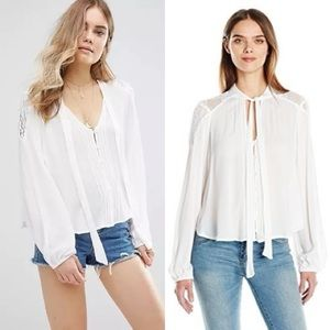 Band Of Gypsies Tie Neck Festival Blouse